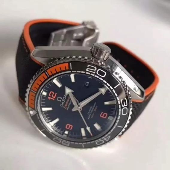 Relógio Masculino Omega Seamaster Borracha(aro Cerâmica)