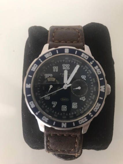 Relogio Masculino Fossil Drt Genuine Leather Dt-4018