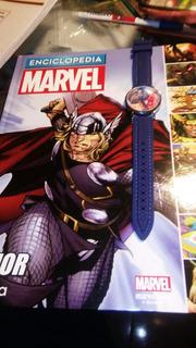 Enciclopedia Marvel Thor Con Reloj Thor