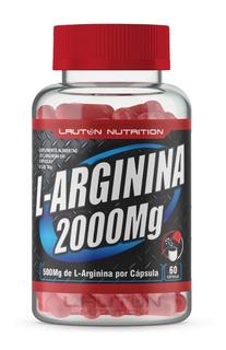 L - Arginina 2000 Mg Pote Com 60 Capsulas Lauton Nutrition