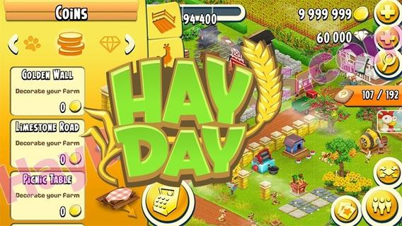 Moedas Hay Day 1000.000