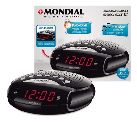 Rádio Relógio Com Despertador Am Fm- Sleep Star Iii Bivolt