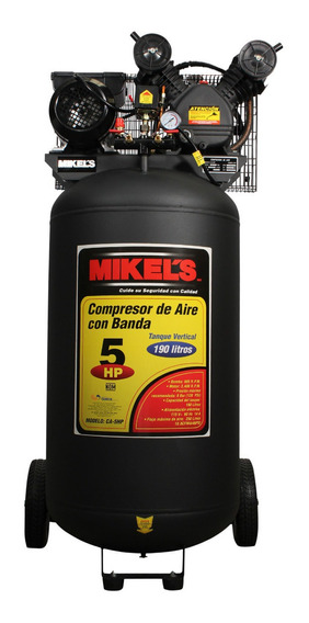 Compresor Aire Vertical 5 Hp 190 Lts Mikels