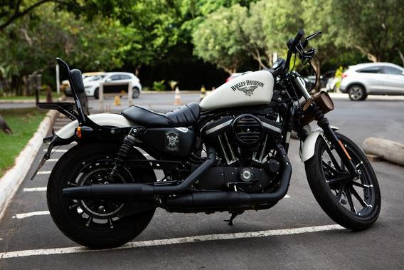 Harley Davidson Sportster Iron 883 Branca Unico Dono