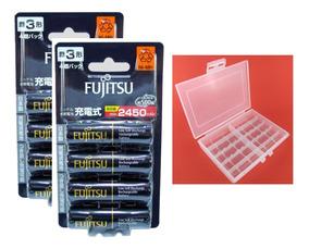 8 Pilhas Aa Fujitsu 2450mah = Eneloop Pro + Case 10