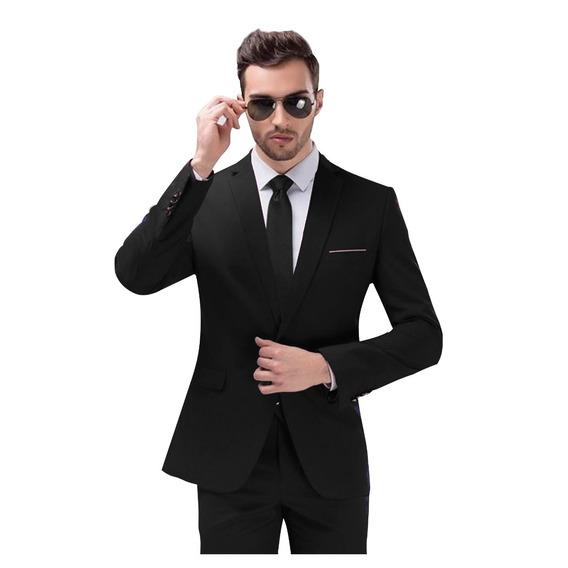 Terno Slim Fit Masculino - Com Camisa Slim, Sapato E Gravata