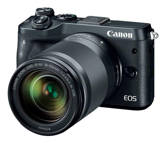 Canon Eos M6 Com Lente 18-150