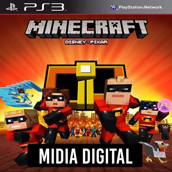 Pacote De Capas Os Incríveis Do Minecraft - Ps3