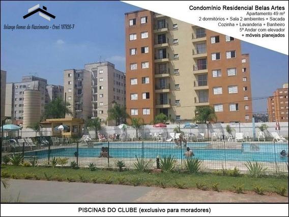 Apartamento Em Jandira Condomínio Residencial Belas Artes 3 - 110