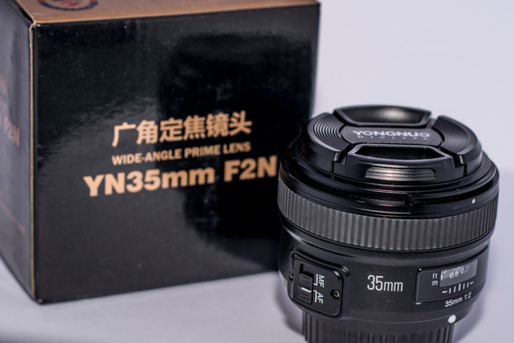 Lente Yongnuo 35mm F2.0 (em Estado De Nova) Para Nikon!!