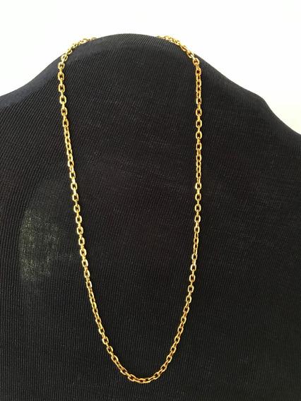 Colar/cordão Fio Cadeado Ouro/banho 42 Cm