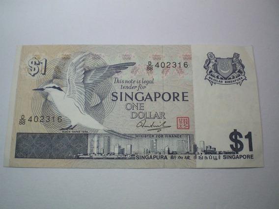 Nota Antiga Cédula De 1 Dolar De Singapura Coleção Diheiro