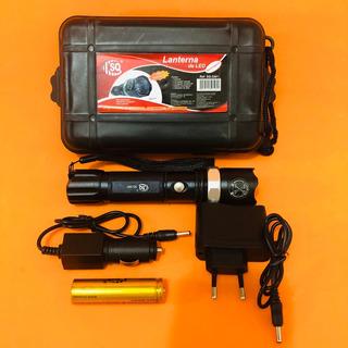 Lanterna Mini Camuflada Led Bateria Recarregável Pesca Caça