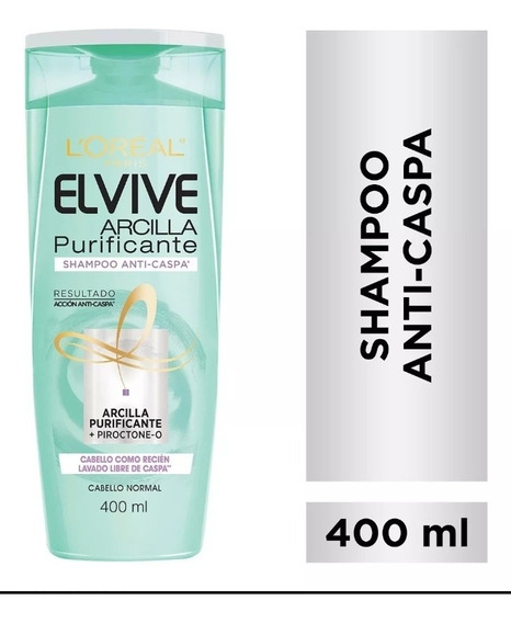 Shampoo Elvive Arcilla Purificante Anticaspa 400 Ml