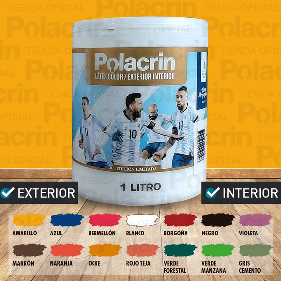 Pintura Latex Interior Exterior Color 1 L Polacrin Premium