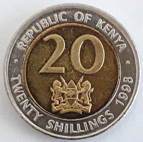 Kenia Moneda Bimetálica Año 1998 - 20 Shillings Sin Circular