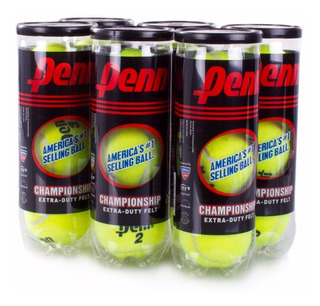 Pelotas De Tenis Penn 6 Tubos De 3 Bolas Ref: 521019