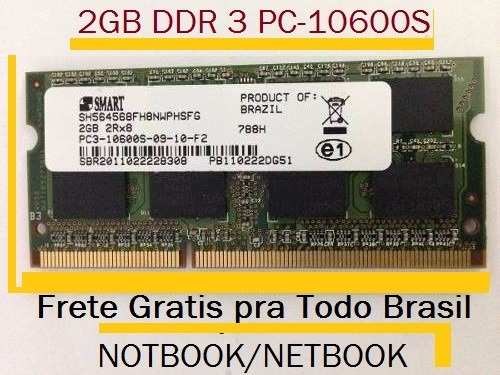 Lote 5 Memorias Ddr3 / Notbook, Frete Gratis Pra Td Brasil