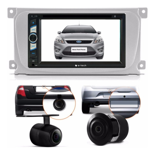 Central Multimidia Dvd Ford Focus + Moldura 2 Din +camera