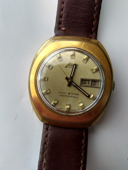 Reloj Mido Multistar Dataday De Los 70 Original Con Fechador
