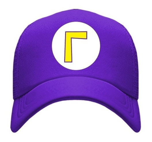 Gorra Tipo Trucker Waluigi Mario Bros
