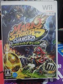 Mario Strikers Charged Japonês Wii Usado