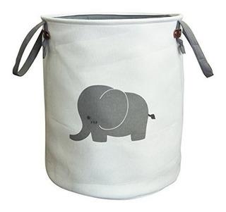 Tela Metálica Organizador De Juguetes Algodón Lindo Elefante