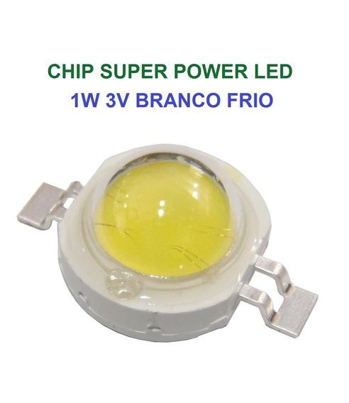 Chip Super Power Led 1w 3v Branco Frio Original