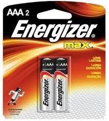 2 Pilhas Aaa2 Energizer Max Alcalina Palito