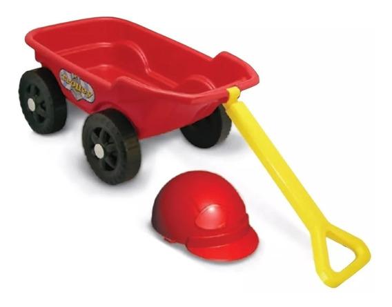 Brinquedo Carrinho De Puxar Infantil Vermelho - Kepler