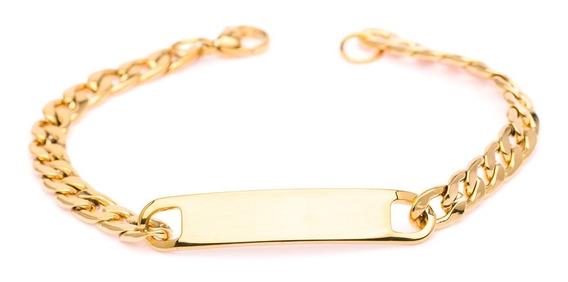 Pulseira Bracelete Aço Masculino Ogrife J-372 Banhado Ouro