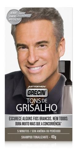 Imagem 1 de 4 de Shampoo Tonalizante Tons De Grisalho Grecin 40g - 1und