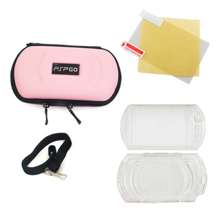 Kit 3 En 1 Estuche Rigido Acrilico Screen Sony Psp Go