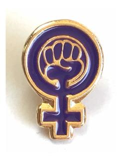 Pin Feminista ( Poder Femenino ) Feminismo Pin Morado