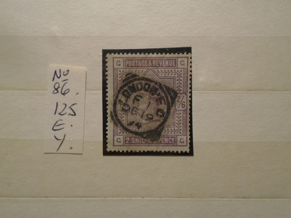 Estampillas Inglaterra. Antiguo Sello. 125 Eu. Impecable.
