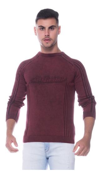 Suéter Masculino Tricot Estonado Genebra 7173 -100% Algodão