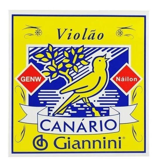 Encordoamento Giannini De Violão Genw Canarionylon