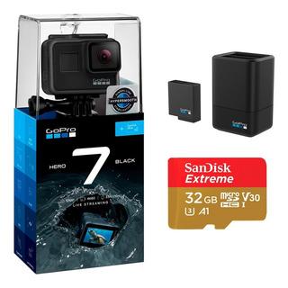 Cámara Gopro Hero 7 Black + Cargador Y Batería+ Sandisk 32gb