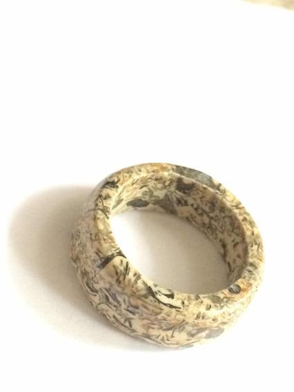 Anillo De Piedra Natural Caracol Turitelaas/sanación / Reiki