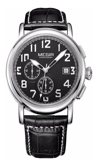Reloj Cronografo Megir Modelo 2031syn - Original