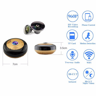 Camara Ip 360° Grados Seguridad Wireless Envio Gratis+ Meses