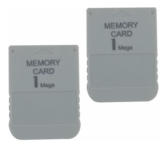 Kit C/ 2 Memory Cards Ps1 Psone Psx Playstation Novo Lacrado