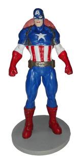 Figura Accion Capitan America 9cm Marvel Disney Navidad Amor