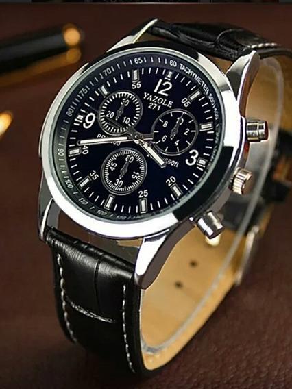Relógio De Pulso Masculino Luxo Yazole Y271 Quartizo