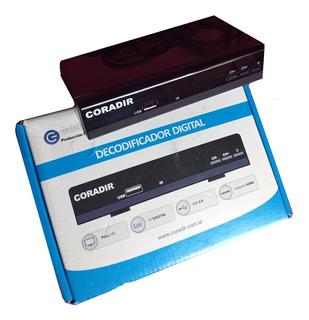 Receptor - Decodificador De Tda Con Cable Y Conectores.