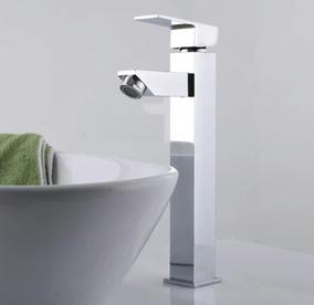 Torneira Misturador Monocomando Banheiro Quadrada Bica Alta