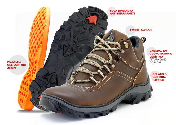 Bota Coturno Couro 100% Legitimo Latego Atron Shoes 259