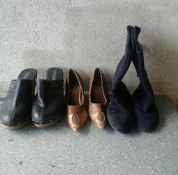 Kt De Sapatos,uma Bota Infantil,um Sapato E Um Tamanco