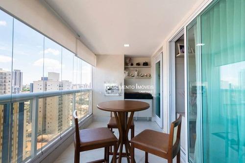 Apartamento Com 3 Dormitórios E Varanda Gourmet À Venda Por R$ 1.096.000 - Jardim Guanabara - Campinas/sp - Ap0764
