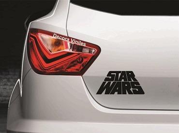 Sticker O Calcomania Star Wars Inclinado Envio Gratis